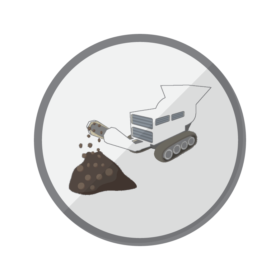 Rock Crusher Icon for Industrial Wireless Remote Control